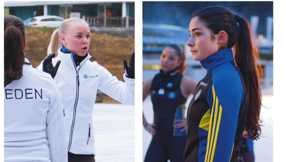 Team Captains Nathalie Lindqvist and Hanna Karem.