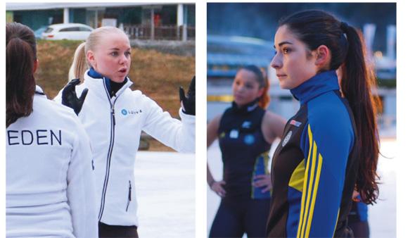 Team Captains Nathalie Lindqvist and Hanna Karem.